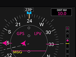 g1000 navigation display